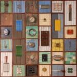 Letters - assemblage 120 x 120 x 10cm